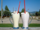 Milkshakes on stage