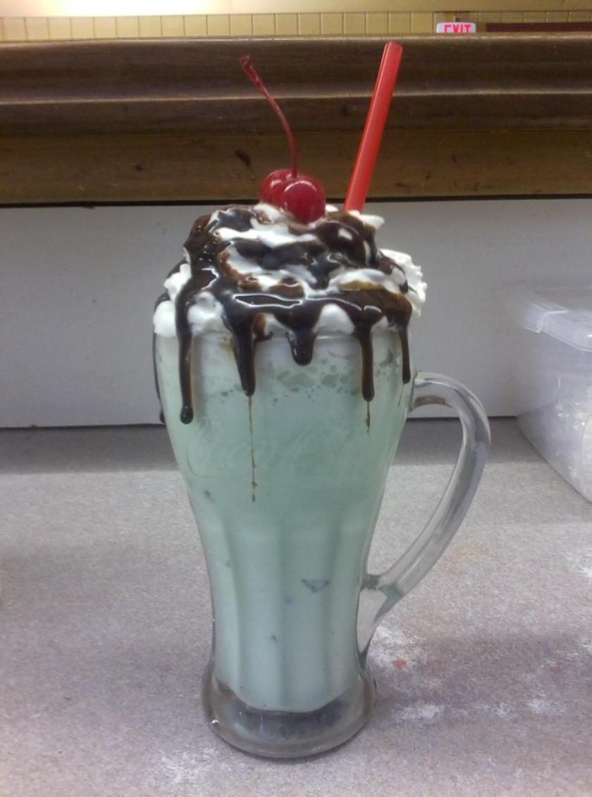 Mint Chocolate Chip Milkshake